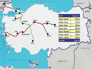 Yüksek Hızlı Trenle birbirine bağlanacak 14 şehir