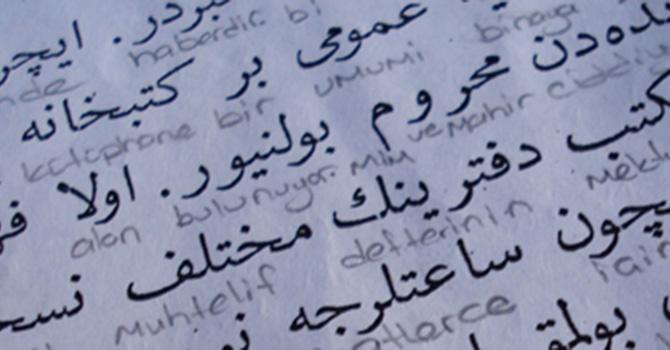 Selçuklu Medresesi'nde Osmanlıca öğreniyorlar