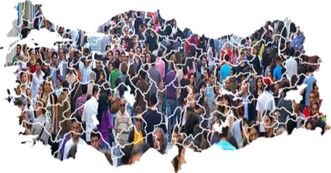 Türkiye'nin nüfusu: 77 milyon 695 bin 904