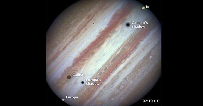 Jüpiter'in uydularına ait nadir görüntü