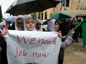 Dünya üzerindeki en yüksek işsizlik oranı Filistinde