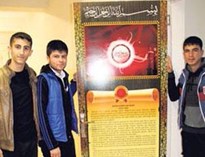 Sınıf kapısı Said Nursi afişi ile korunuyor!