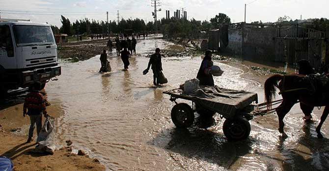 Gazze bu kez şiddetli kış ile imtihanda