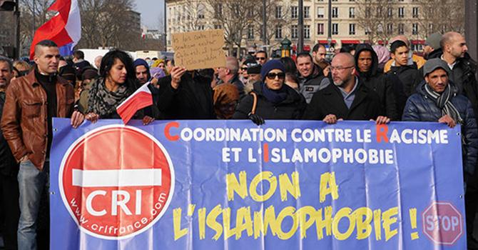 Paris'te İslamofobi karşıtı yürüyüş
