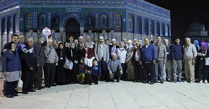 Kudüs bağlantılı Umre turunda bir ilk