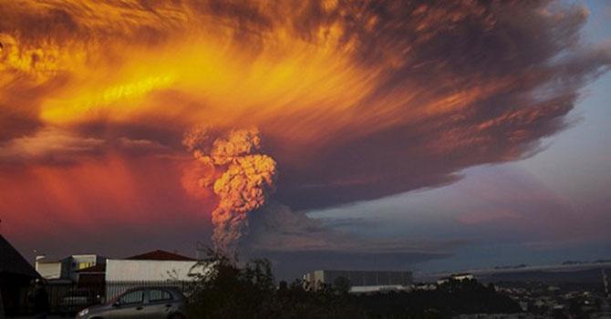 Şili'deki yanardağ Arjantin'e ulaştı