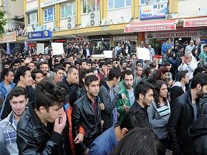 Isparta'da öğrencilerden kira protestosu