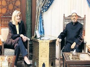 Le Pen, El Ezher'den gerçek İslam'ı dinledi