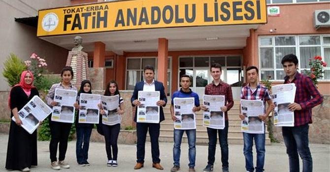 Liselilerden Osmanlıca gazete