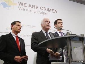 John McCain ve beraberindeki heyet Ukrayna'da
