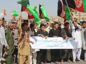 Afganistan'da Türkmenler eylem yaptı