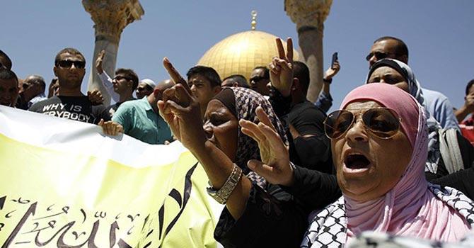 Hz. Muhammed'e hakaret eden yahudiye protesto