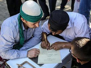 Keçe Külahlılar Kırgız Düğününü Risale-i Nur'la renklendirdi