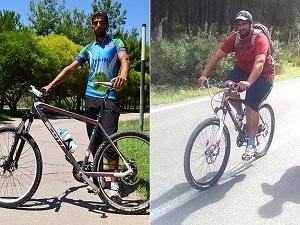 Bisiklet sürerek 15 ayda 60 kilo verdi