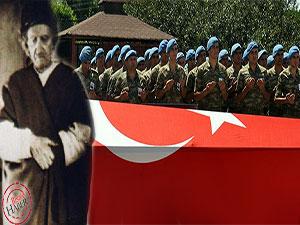 Said Nursi şehit askerin cenazesine katılmıştı