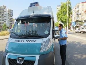 Klimayı açmayan minibüs şoförlerine ceza