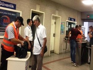 Metro ve İZBAN'da güvenlik önlemleri artırıldı