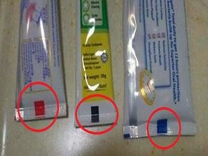 Diş macunu tüplerindeki renkli kareler ne anlama geliyor?