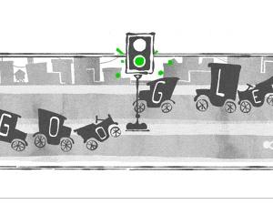 Google'dan ilk trafik lambası için Doodle