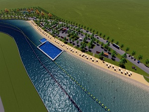 Denizsiz kente dev gölet