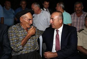 Çavuşoğlu'ndan şehit ailesine ziyaret