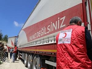 Türk Kızılayından Suriye'ye yardım