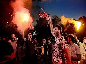 Saraçhane'de Rabia protestosu