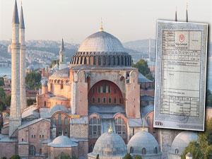 İşte tapu: Ayasofya camidir sahibi de Sultan Fatih