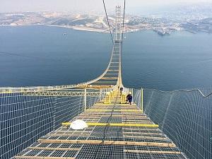 Dev köprüde sıra ana kablo halatlarında