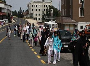 Uludağ'a Arap turist akını