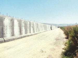 Sınırın tamamına beton duvar