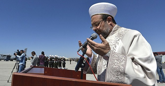 Mehmet Görmez'den şehitler için dua