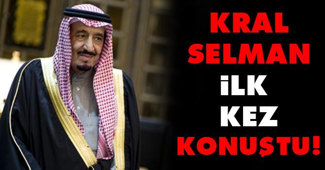 Kral Selman ilk kez konuştu!