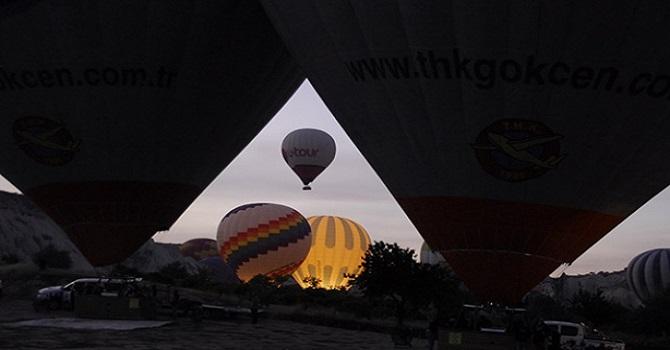 Kapadokya'da balon hastanesi kuruldu