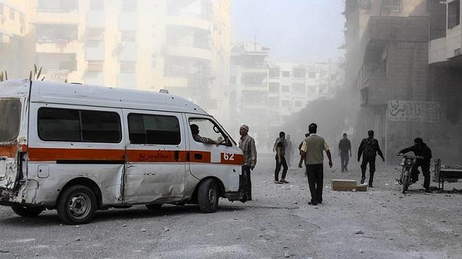 Esed güçlerinin hava saldırısında 4 kişi öldü, 15 kişi yaralandı