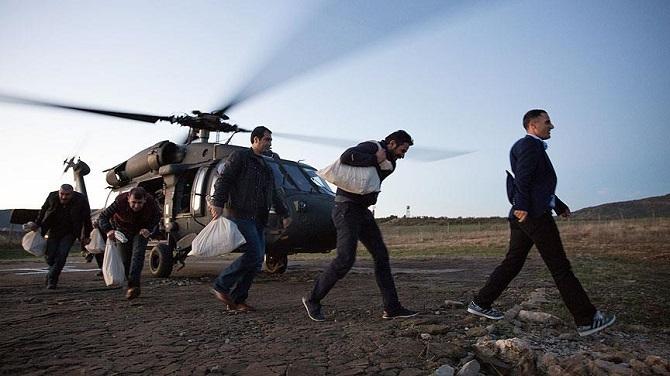 Diyarbakır ve Siirt'te oy pusulaları askeri helikopterle taşındı