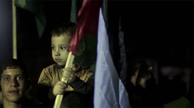 Filistinli çocuklar BM binası önünde gösteri düzenledi