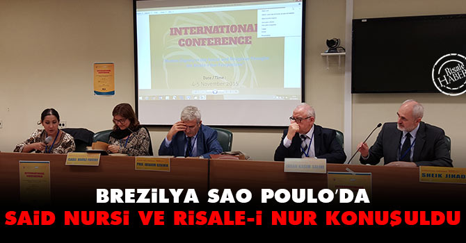 Brezilya Sao Poulo'da Said Nursi ve Risale-i Nur konuşuldu