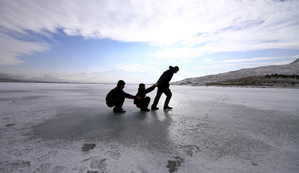 Sıhke ve Erçek Gölü dondu