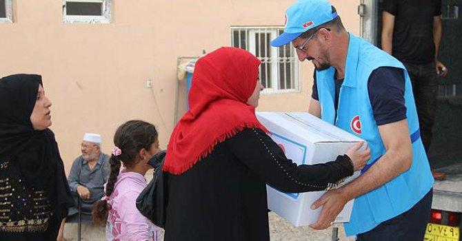 Diyanet Vakfı'ndan Afrinli sivillere Ramazan yardımı