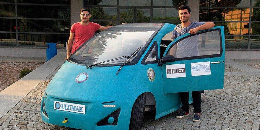 Tasarladıkları elektrikli otomobili bir ayda ürettiler