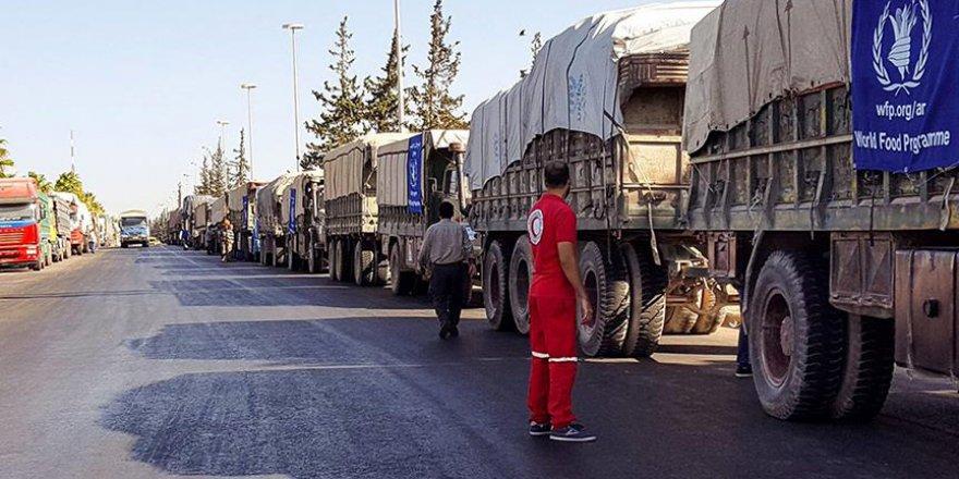 BM'nin 26 yardım tırı İdlib'e hareket etti
