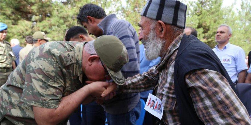 Siirt'te şehit köy korucuları için tören yapıldı