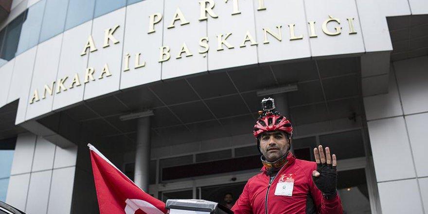 Darbe girişimine karşı Almanya'dan Ankara'ya pedal çevirdi