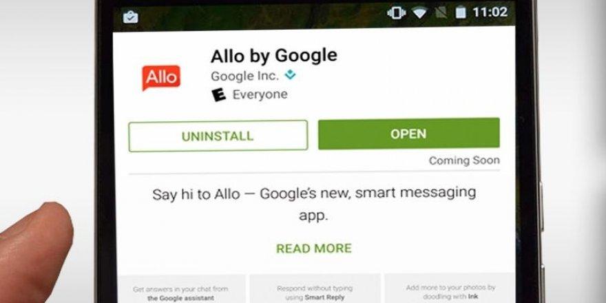Google Allo indirilmeye hazır