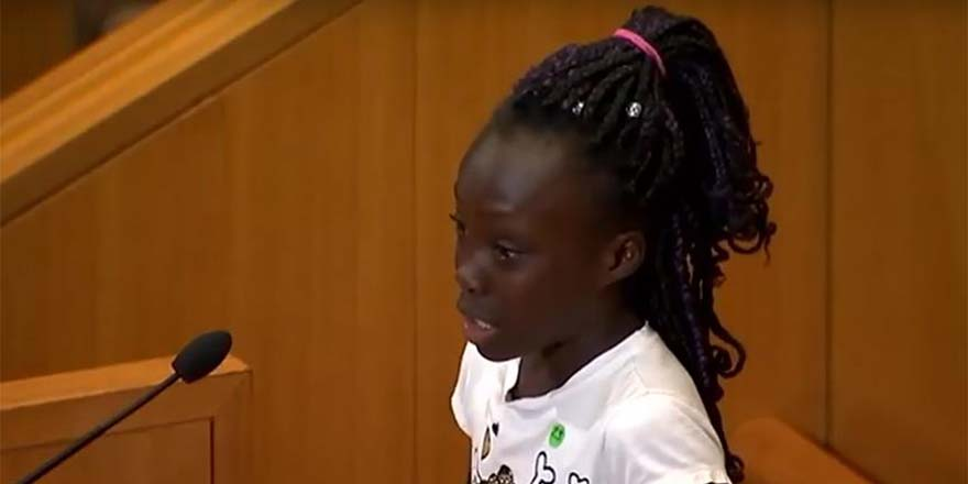 9 yaşındaki çocuğun ders gibi konuşması ABD'yi karıştırdı