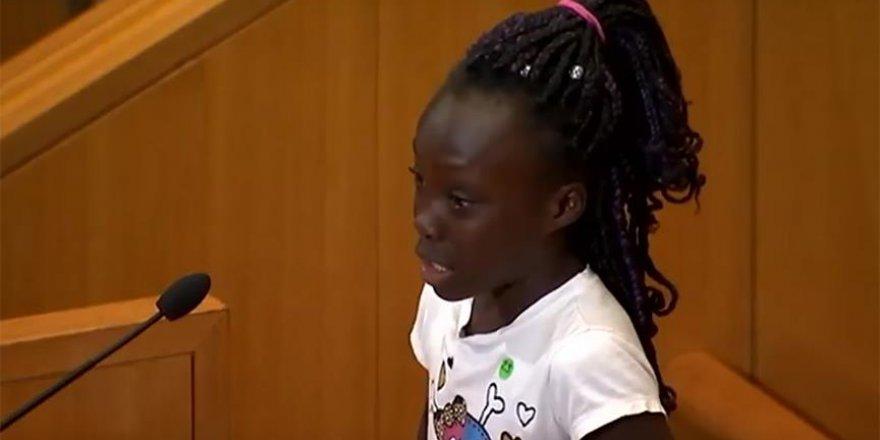 """ABD'de siyahi çocuktan """"ırkçılık"""" dersi"""