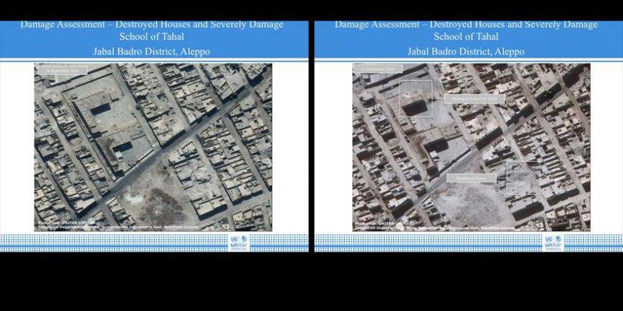 Halep'teki yıkım uydu görüntülerinde