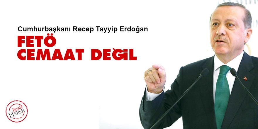 Cumhurbaşkanı Erdoğan: FETÖ bir cemaat veya dini grup değil