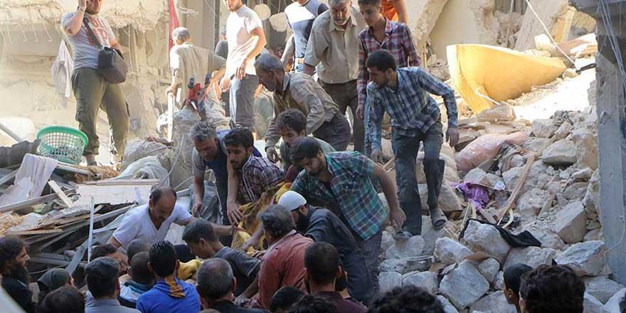 Halep'te katliama devam: Sivillere bomba 43 ölü